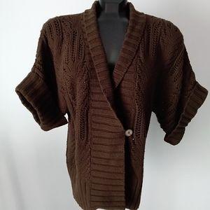 "Calvin Klein ""Crochet Look"" Sweater"